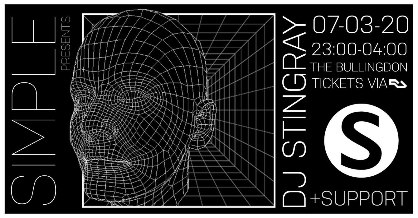 Simple presents DJ Stingray - Flyer front