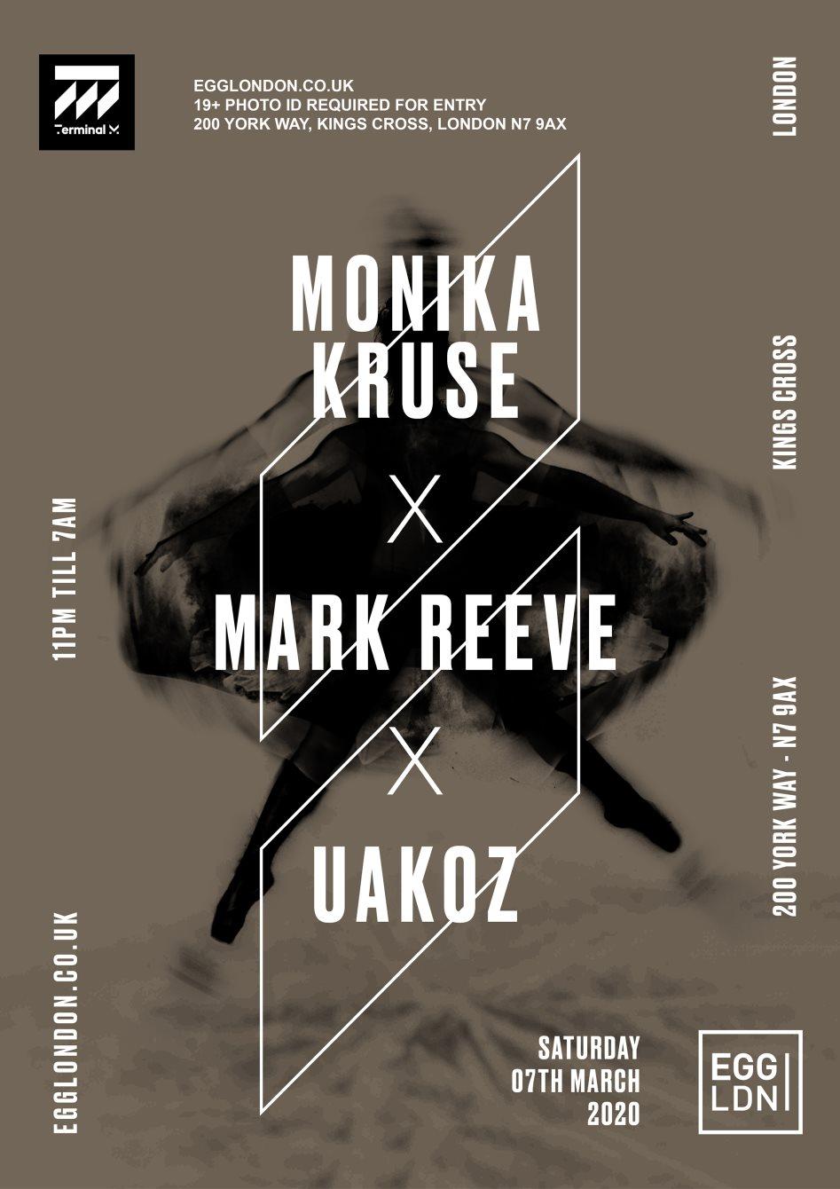 EGG LDN Pres: 20 Years of Terminal M - Monika Kruse, Uakoz, Mark Reeve - Flyer back