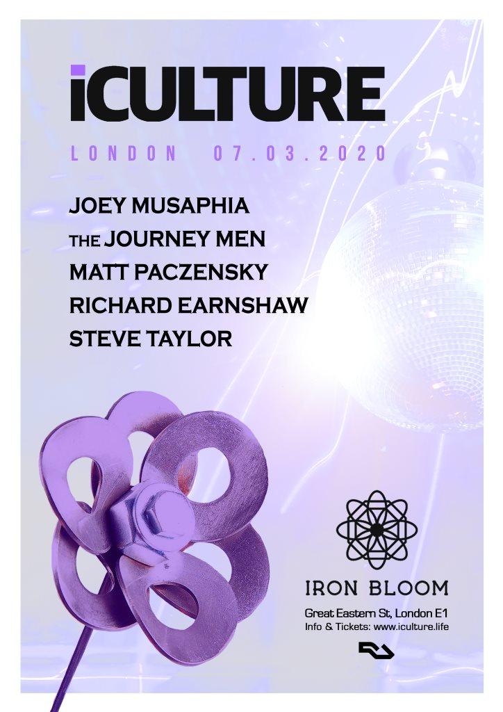 iCulture London Ft The Journey Men & Joey Musaphia - Flyer back