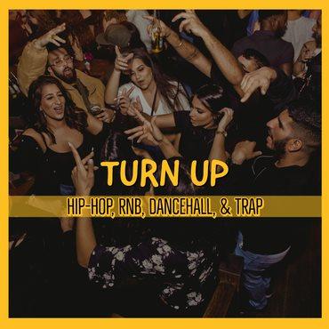 Turn Up Shoreditch - Hiphop, Afrobeats, Bashment - Flyer front