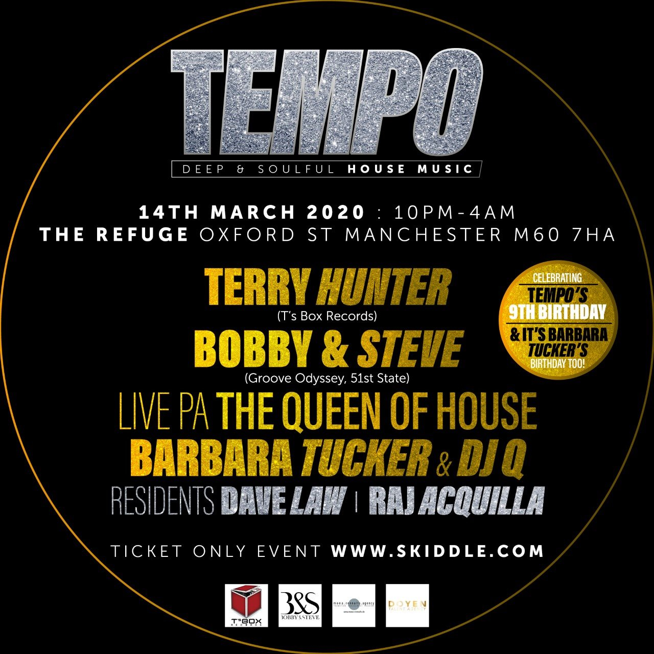 Tempo 9th Birthday Manchester. - Flyer front