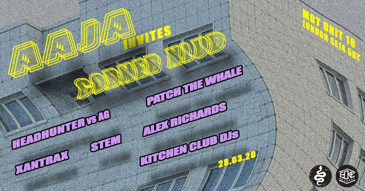 (Cancelled)AAJA Invites Corner Klub at MOT - Flyer front