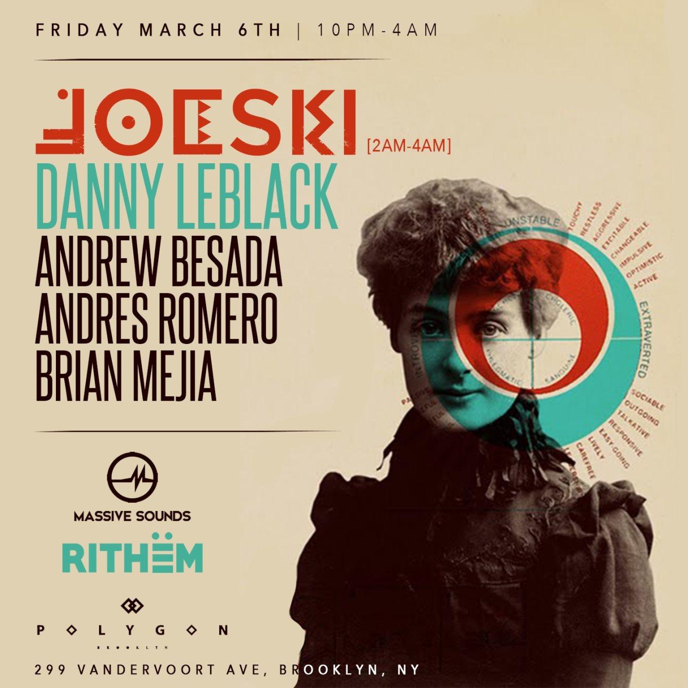 Rithëm and Massive Sounds presents Joeski - Flyer front