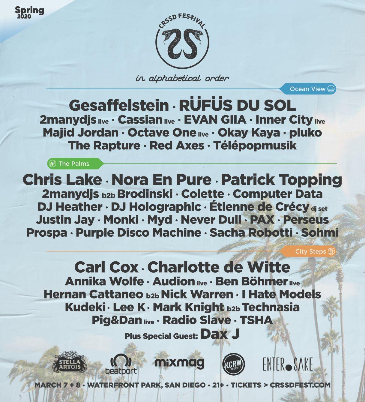 Crssd Festival Spring '20 presented by FNGRS CRSSD - Flyer front