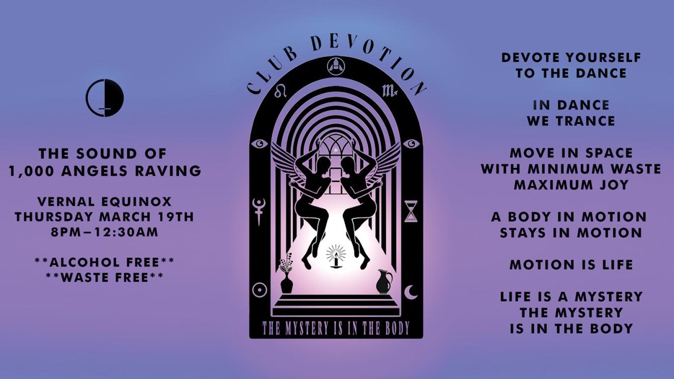 [CANCELED] Club Devotion - Flyer front