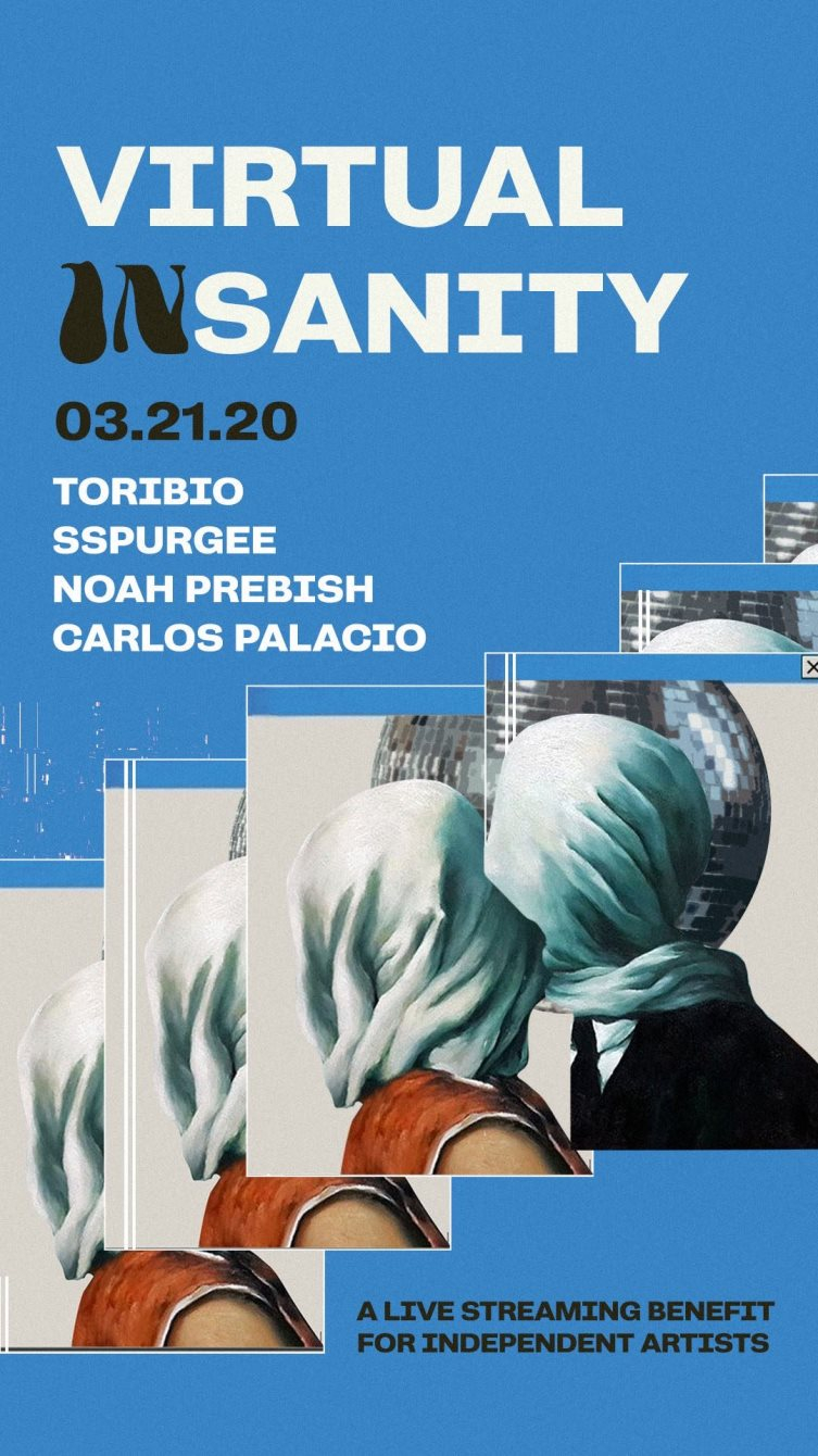 Virtual Insanity: A Live Streaming Benefit For Independent Artists - Flyer front