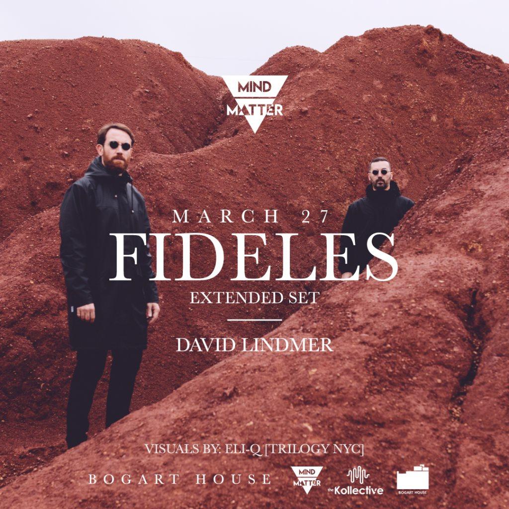 [CANCELLED] Mind-Matter: Fideles (Extended Set) // David Lindmer - Flyer front