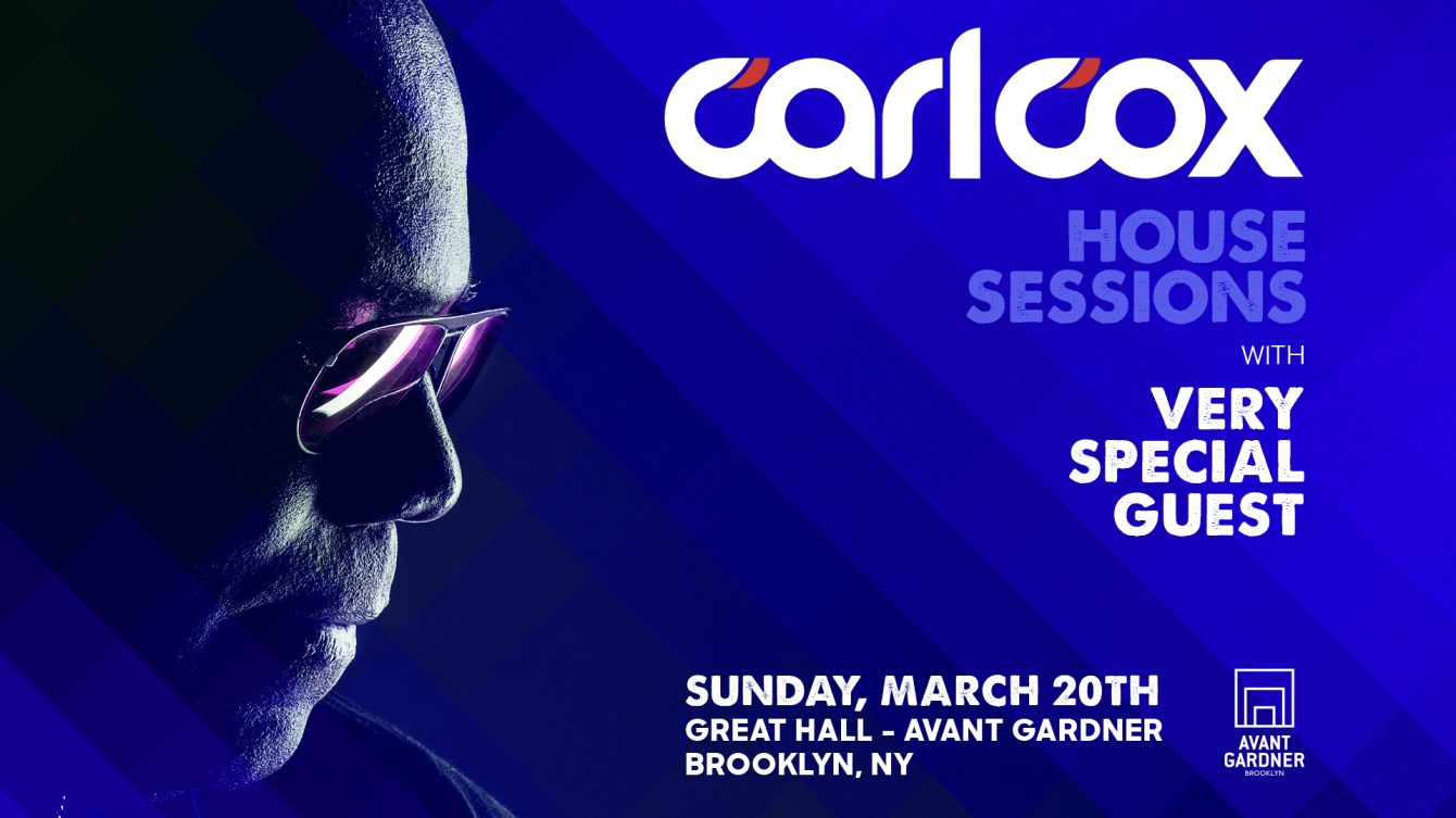 Carl Cox: House Sessions - Flyer front