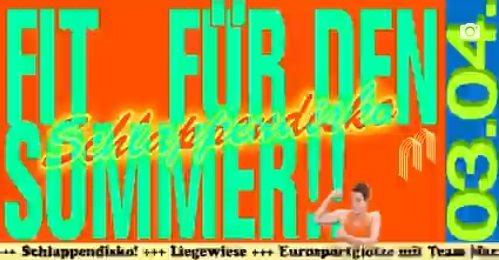 Fit für den Sommer! - Schlappendisko - Flyer front
