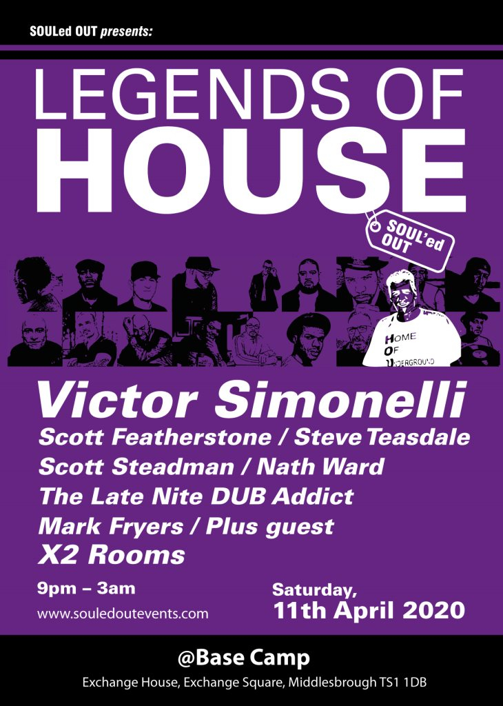 Legends Of House - Victor Simonelli - Flyer front
