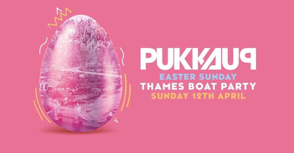 Thames Boat Party - Easter Sunday - London - Ibiza Send off - Flyer front