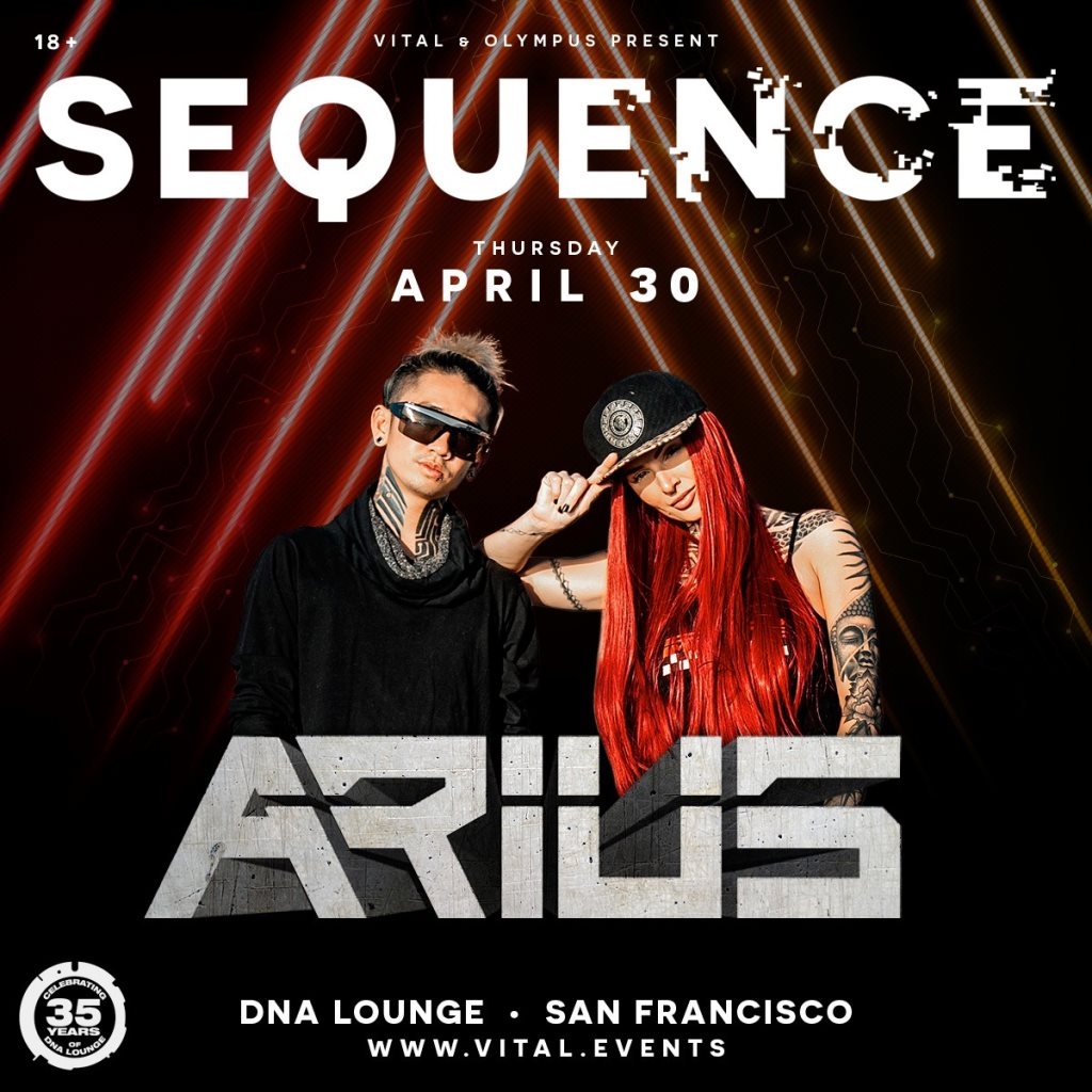 Sequence Feat. Arius - Flyer front