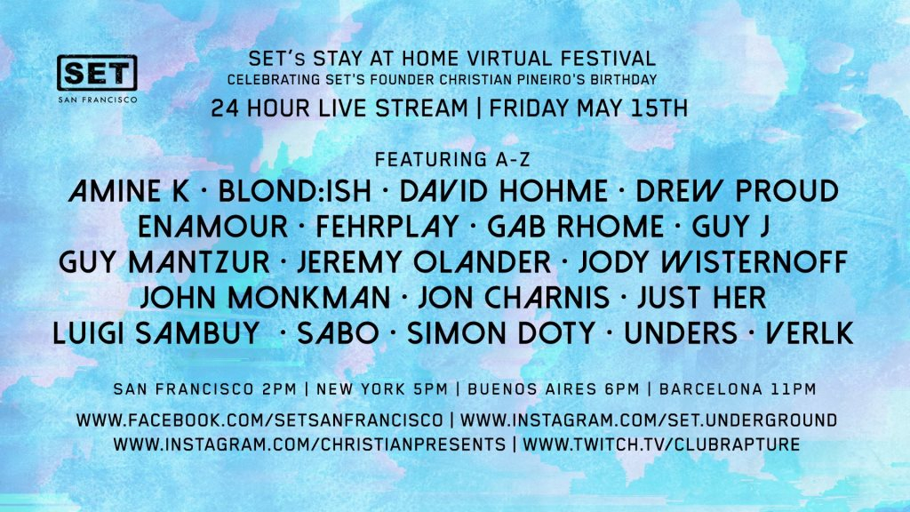 Set's Stay AT Home Virtual Festival - Flyer front