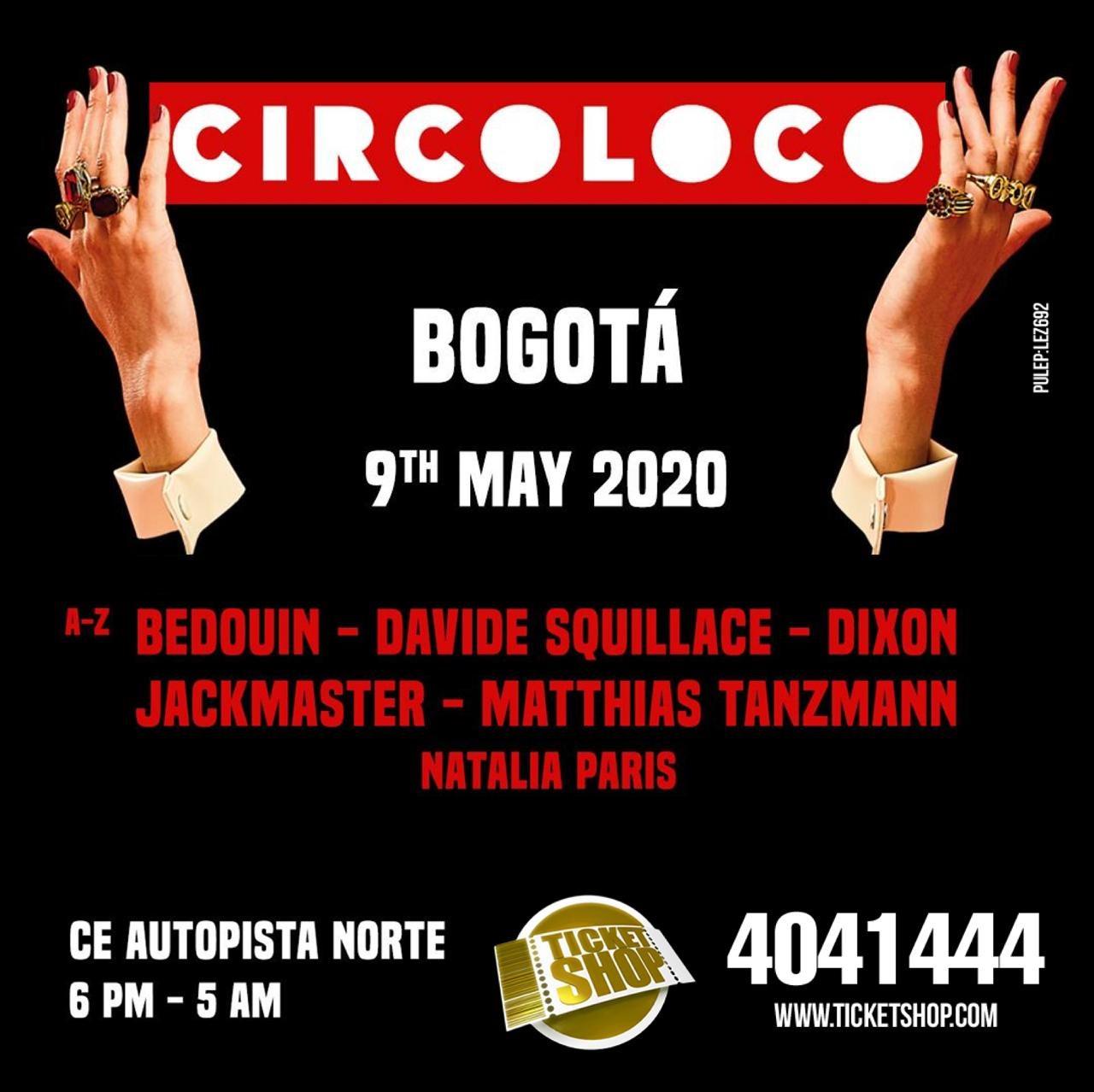 CircoLoco Bogotá 2020 - Flyer front