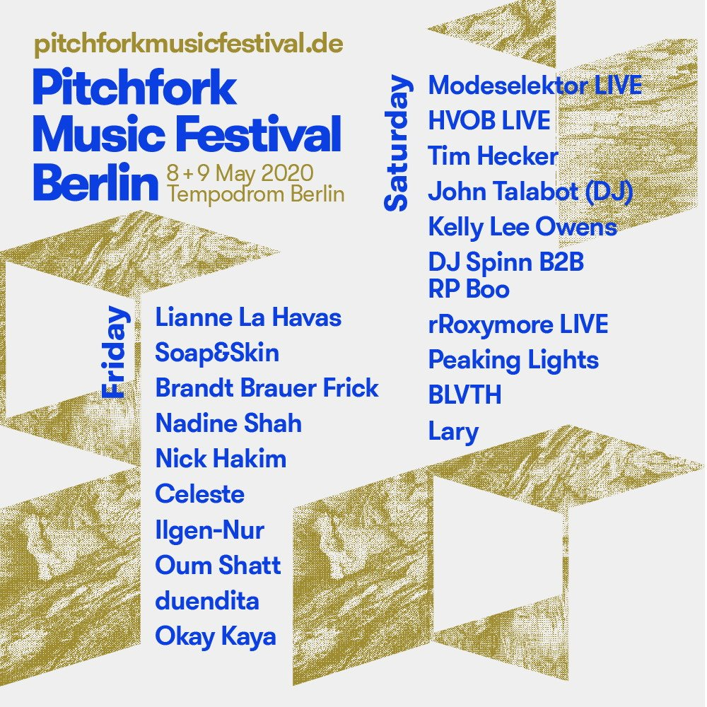 [CANCELLED] Pitchfork Music Festival Berlin (Day 1) - Flyer front