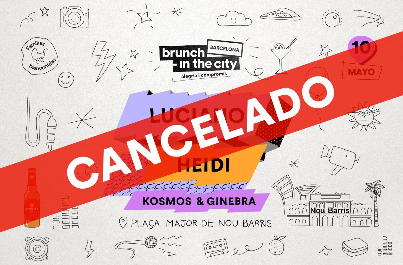 ***Cancelado***Brunch -In the City #5: Luciano + Heidi + Kosmos & Ginebra - Flyer back