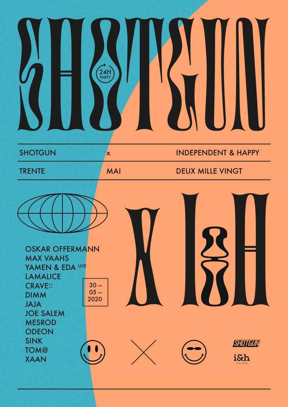 Shotgun X I&H W/ Oskar Offermann, Max Vaahs, Yamen & EDA - Flyer front