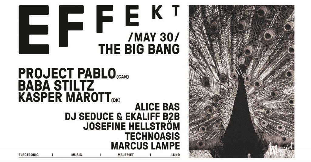 Klubb Effekt Mini Festival – The Big Bang - Flyer front