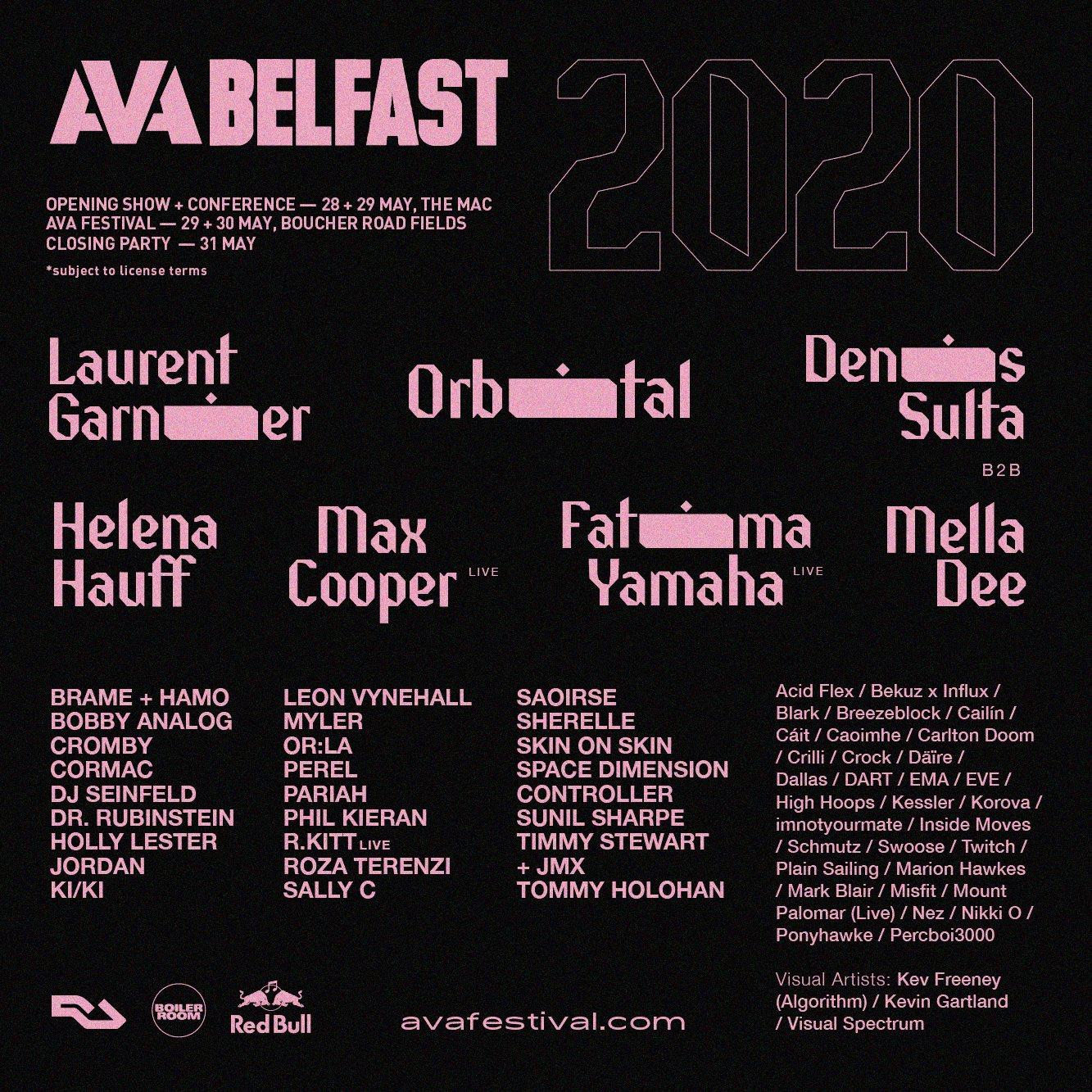 [IMPORTANT UPDATE] AVA Belfast 2020 - Flyer front