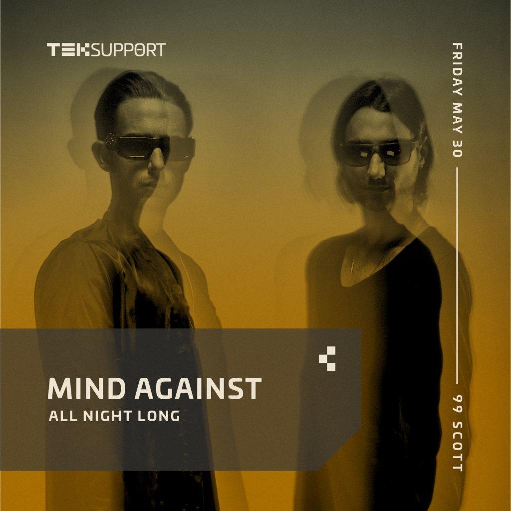 Teksupport: Mind Against (All Night Long) - Flyer back