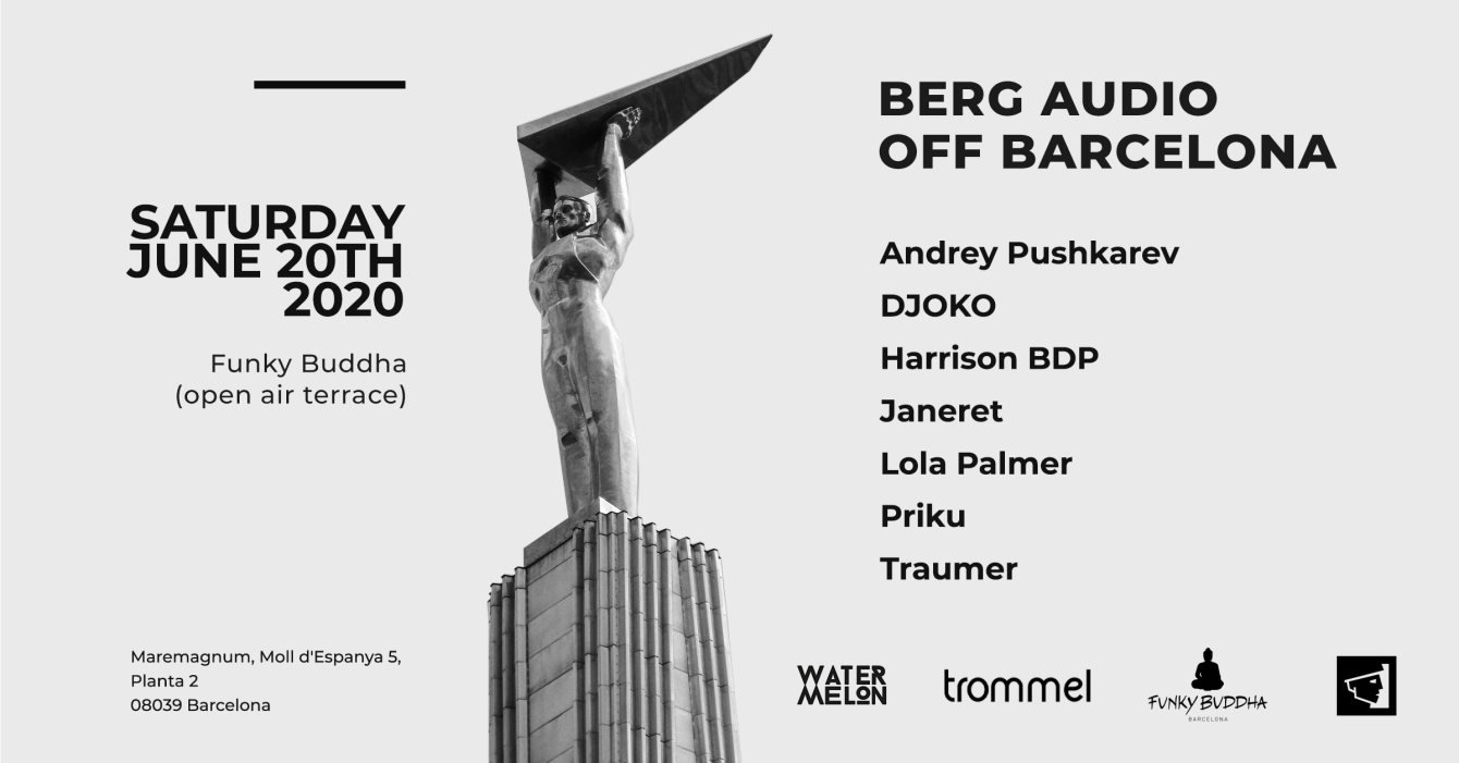 [CANCELLED] Berg Audio • Off Barcelona 2020 - Flyer front