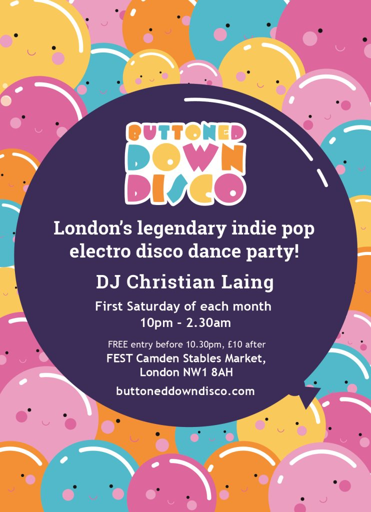 Buttoned Down Disco - Flyer back