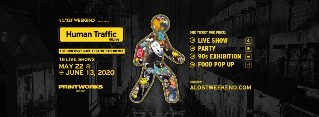 Human Traffic Live & the World's Biggest DnB Brand in the World - Flyer front