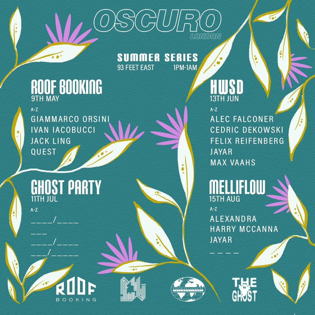 OSCURO Summer Series 002 x Hardworksoftdrink with Alec Falconer, Cedric, Felix & Max - Flyer back