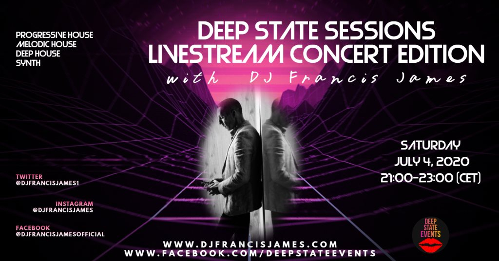 Deep State Sessions Livestream Concert Edition - Flyer front