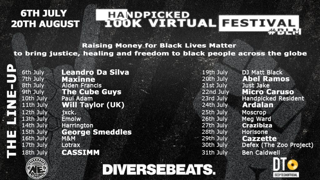 Handpicked Virtual Festival - Flyer front