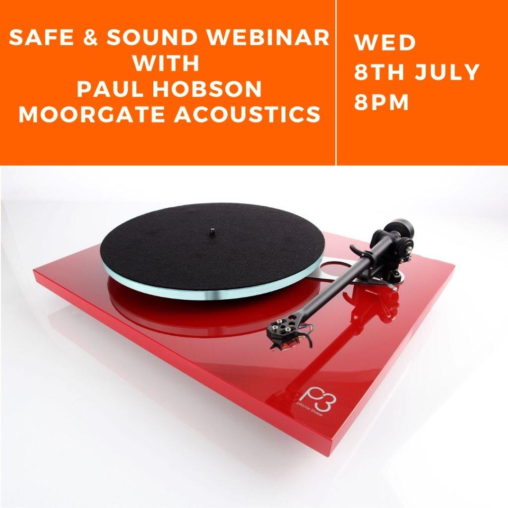 Safe & Sound Webinar: Tips to Improve Your Sound System - Flyer front