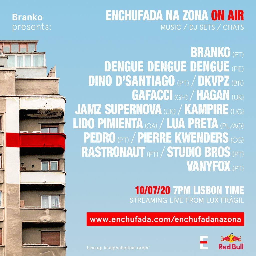 Enchufada Na Zona ON AIR - Flyer front