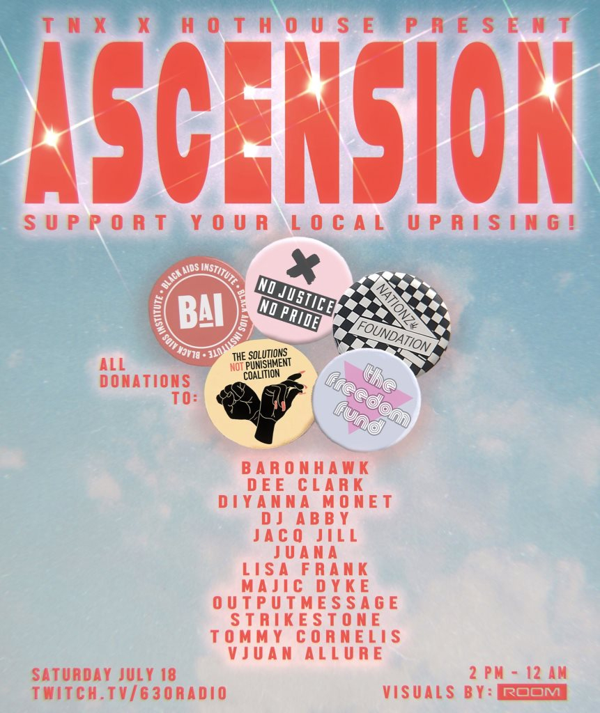 TNX & Hot House: Ascension - Flyer front