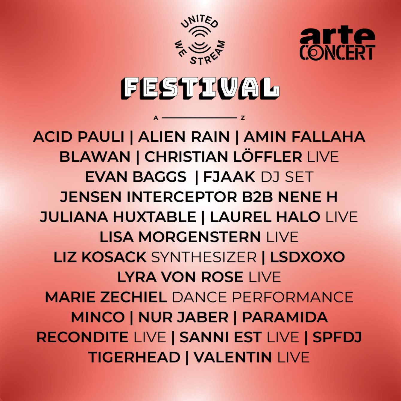 United We Stream Festival - Day 2 - Flyer front