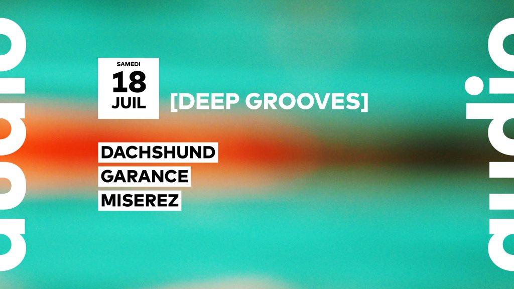 Deep Grooves // Dachshund • Garance • Miserez - Flyer front