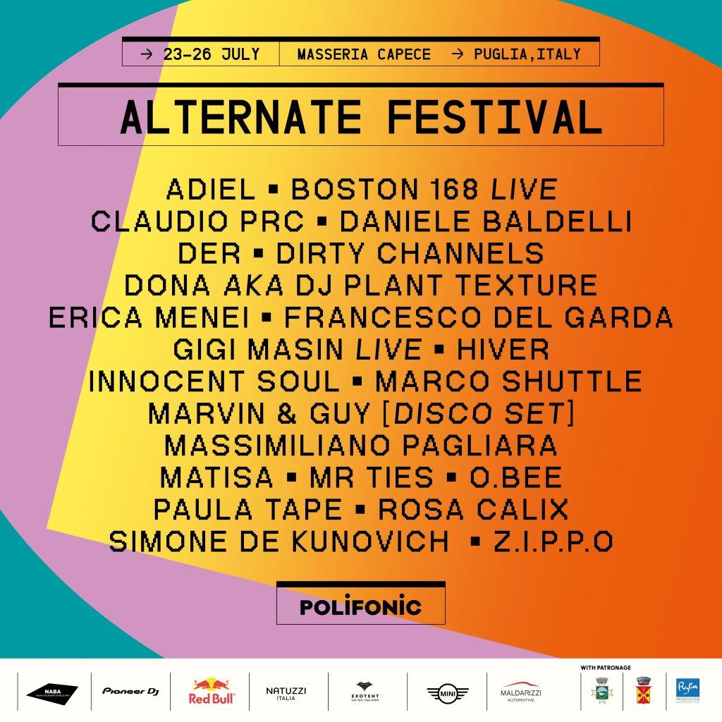 Alternate Festival - Flyer front