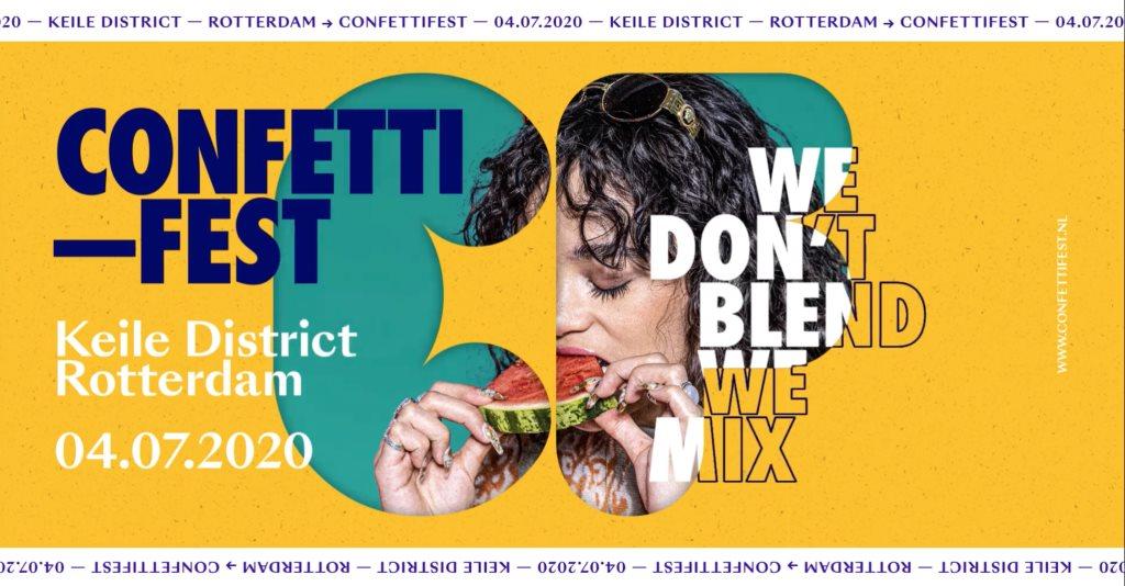 Confetti Fest 2020 - Flyer front