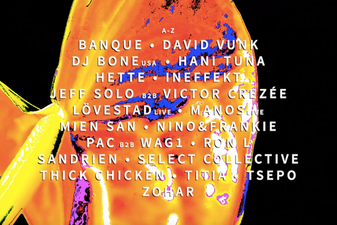 Select Festival 2020 - Flyer front