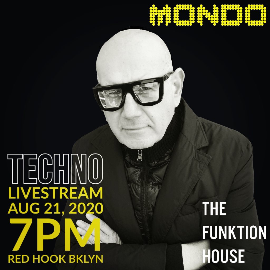 Mondo Livestream at The Funktion House - Flyer front
