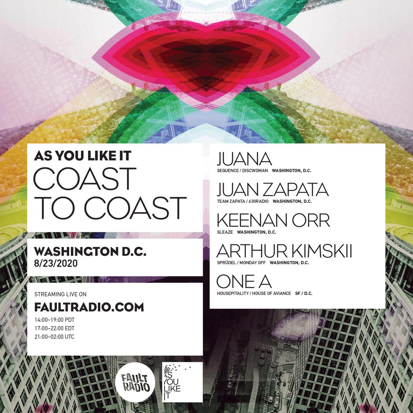 As You Like It Coast to Coast: Washington, D.C - Flyer front