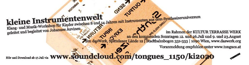 Kleine Instrumentenwelt / Klang- und Musik-Workshop Für Kinder - Flyer front