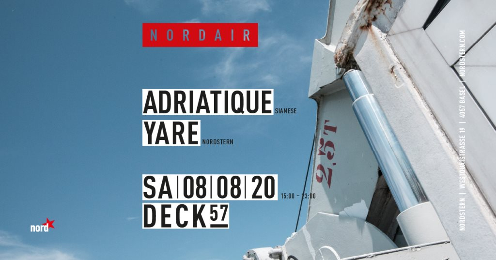 N O R D A I R with Adriatique - Flyer front