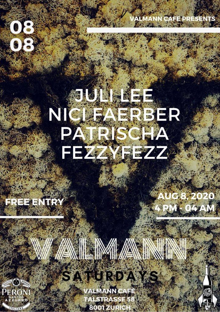Valmann Saturday with Juli Lee, Nici Faerber, Patrischa & Fezzyfezz - Flyer front