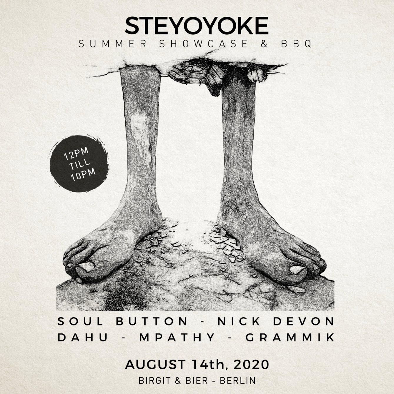 Steyoyoke Summer Showcase 2020 - Flyer front