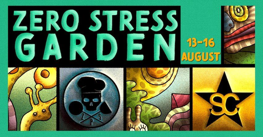 Zero Stress Garden with Mina da Lua, Vela - Flyer front