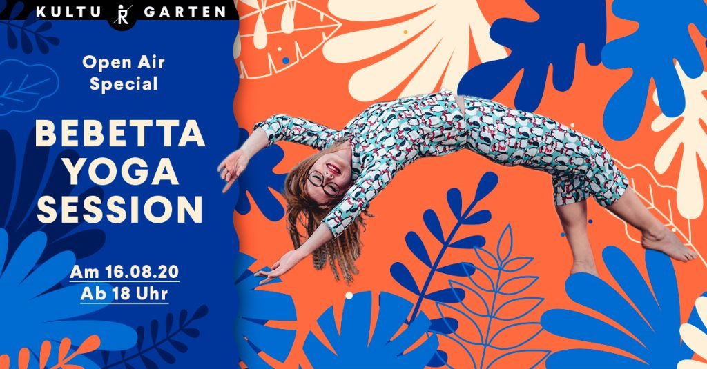 CANCELLED Bebetta Yoga Session - Flyer front