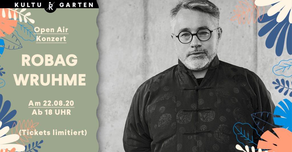Robag Wruhme (4h Extended Set) Open Air @Kulturgarten - Flyer front