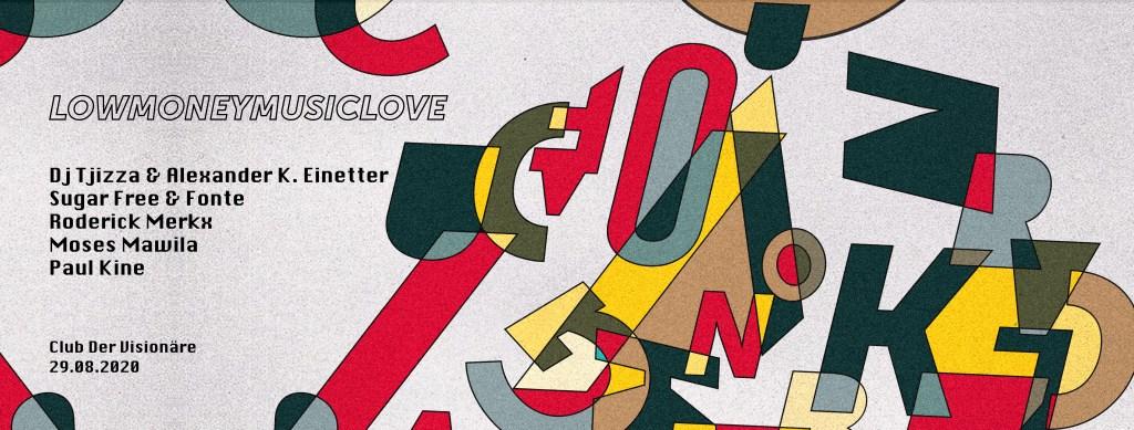 Lowmoneymusiclove - Flyer front