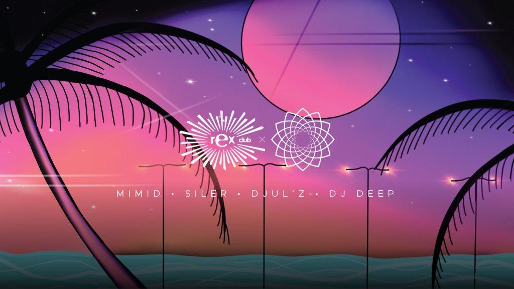Baou: Jardins Suspendus x Rex Club • DJ Deep, Djulz, Siler,MIMID - Flyer front