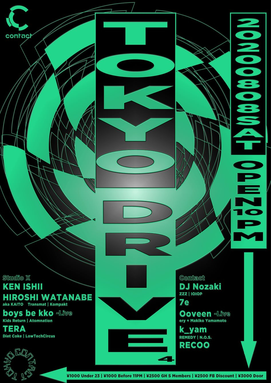 Tokyo Drive #4 - Flyer front